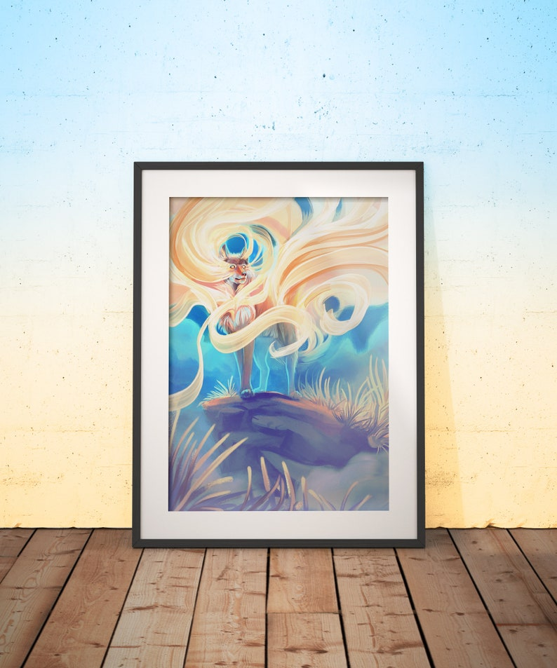 Mural Single or Together Poster A3 Poster Art Print Daybreaker /& Nighttaker Wall decor