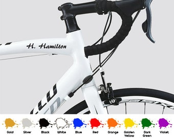 2 x PERSONALISED Stickers Name Scooter Bike Helmet Cycle Frame Racing Decals al