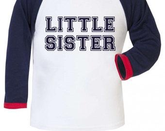 Little Sister Girls Baseball Long Sleeve Shirt