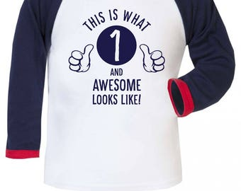This Is What Awesome Looks Like Boys Baseball Long Sleeve Shirt