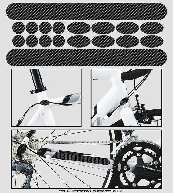 Bicycle Chainstay /& Frame Protectors in Clear or Carbon Effect