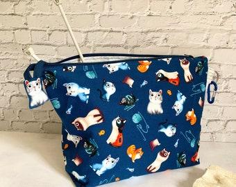 Cats Tetra Knitting Bag