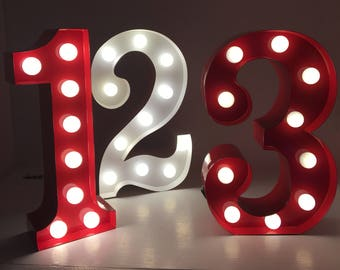 Vintage Carnival Style Light up Numbers