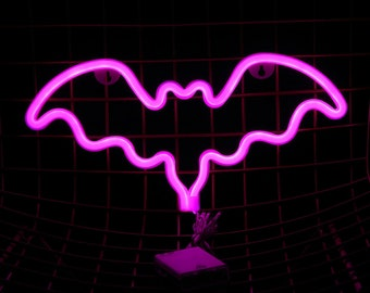 BAT Acrylic Neon Light - USB - Pink