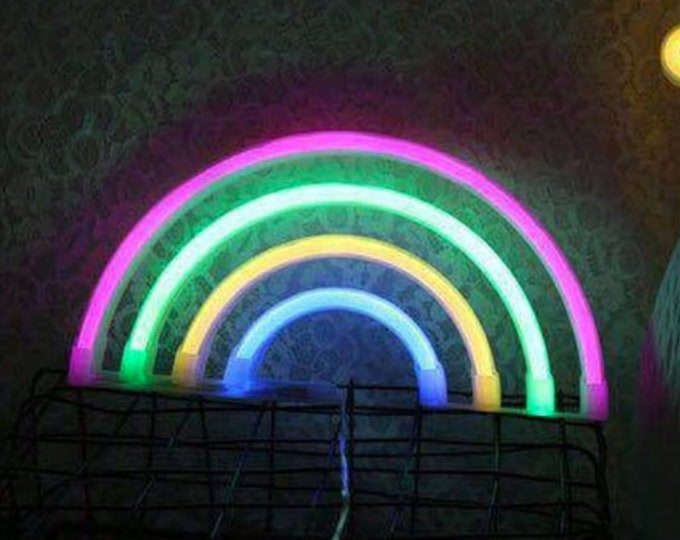 RAINBOW Acrylic Neon Light - USB or Battery