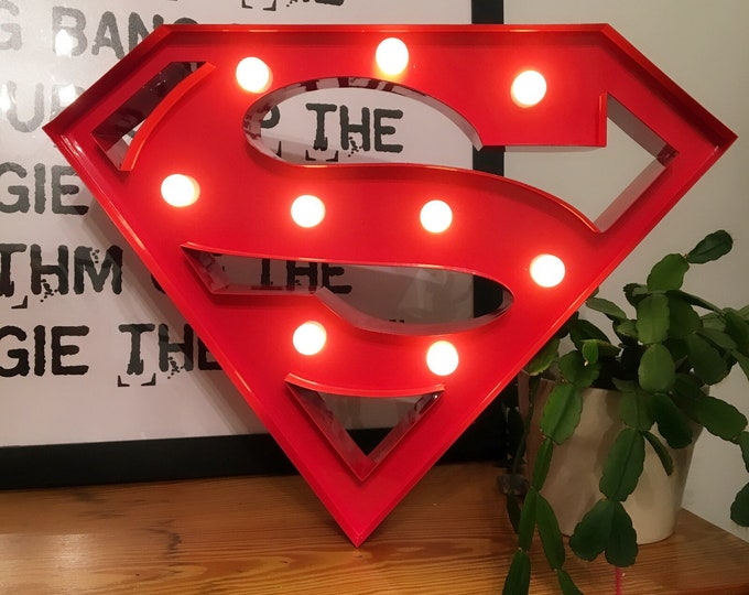 15 Inch Metal Marquee Light - SUPERMAN