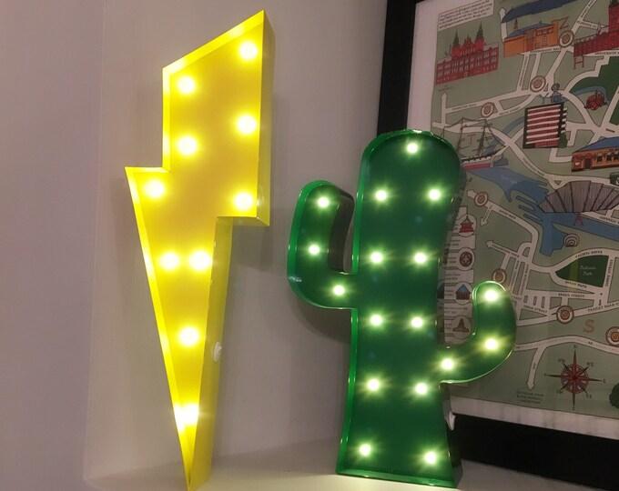 12 Inch LED Light - LIGHTNING BOLT - Various Colours