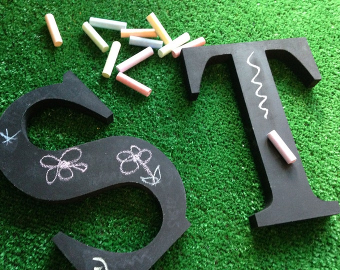 Freestanding Decorative Wooden Chalkboard Letters - 20cm