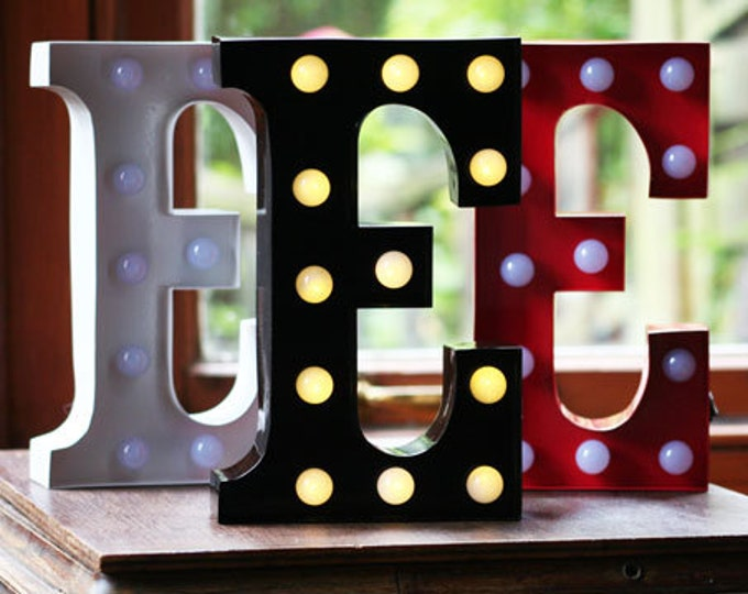 Vintage Carnival Style Marquee Light, Light up Letter E - Battery Operated