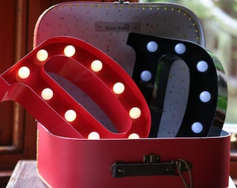 Vintage Carnival Style Marquee Light, Light up Letter D - Battery Operated