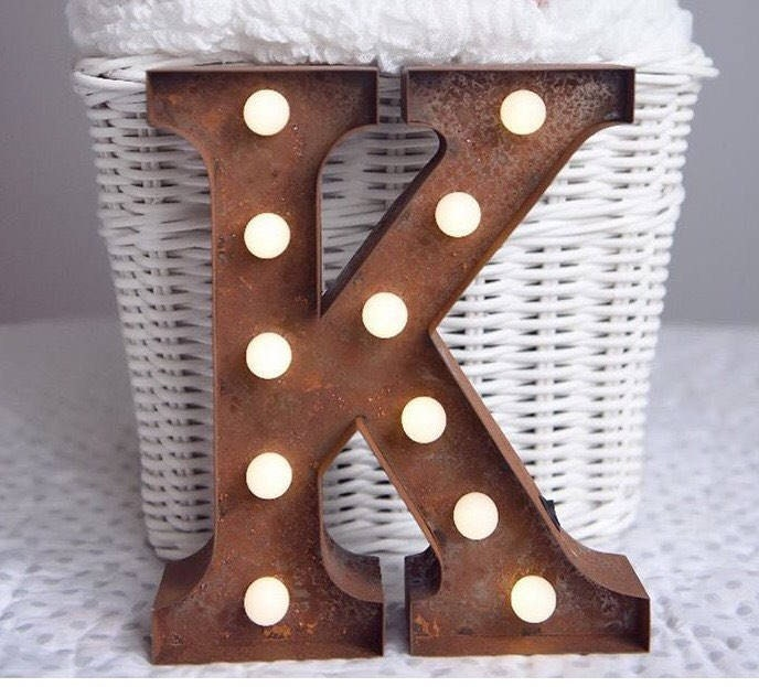 Vintage Carnival Style Marquee Light Light Up Letter K Battery