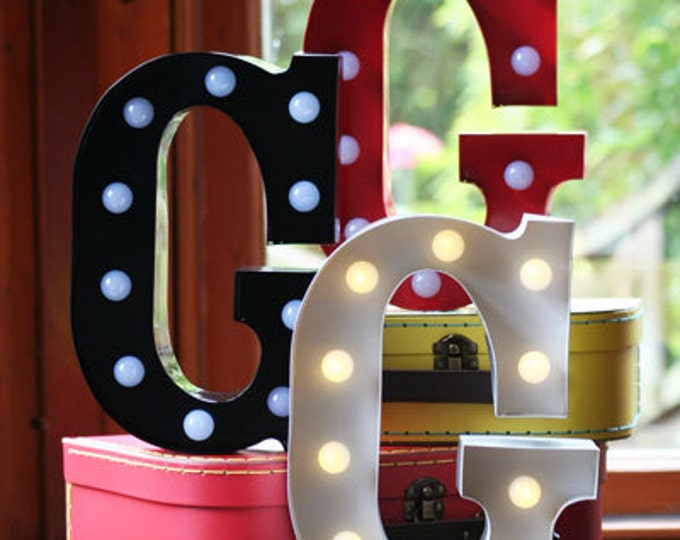 Vintage Carnival Style Light up Letter G - Battery Operated