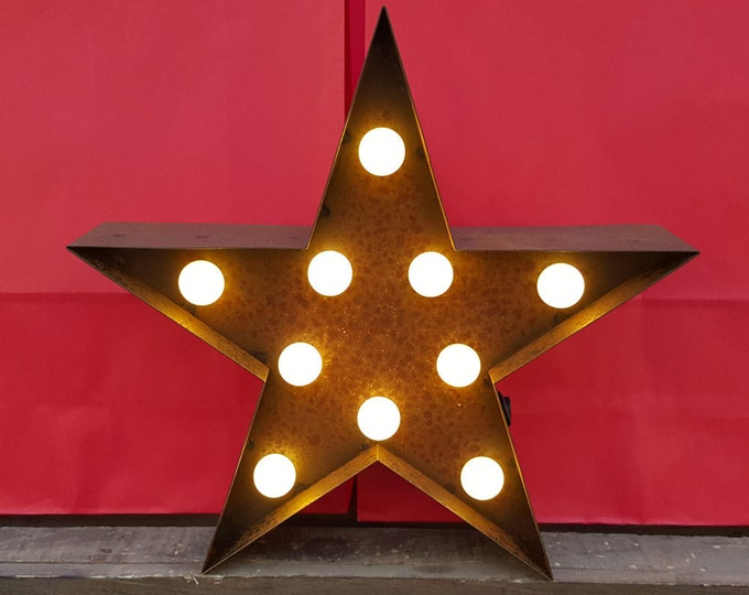 9 Inch LED Light - STAR - Various Colours