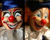Last Chance! Unique Movie Prop Replica POLTERGEIST CLOWN Two Faced Head Both Evil & Happy!