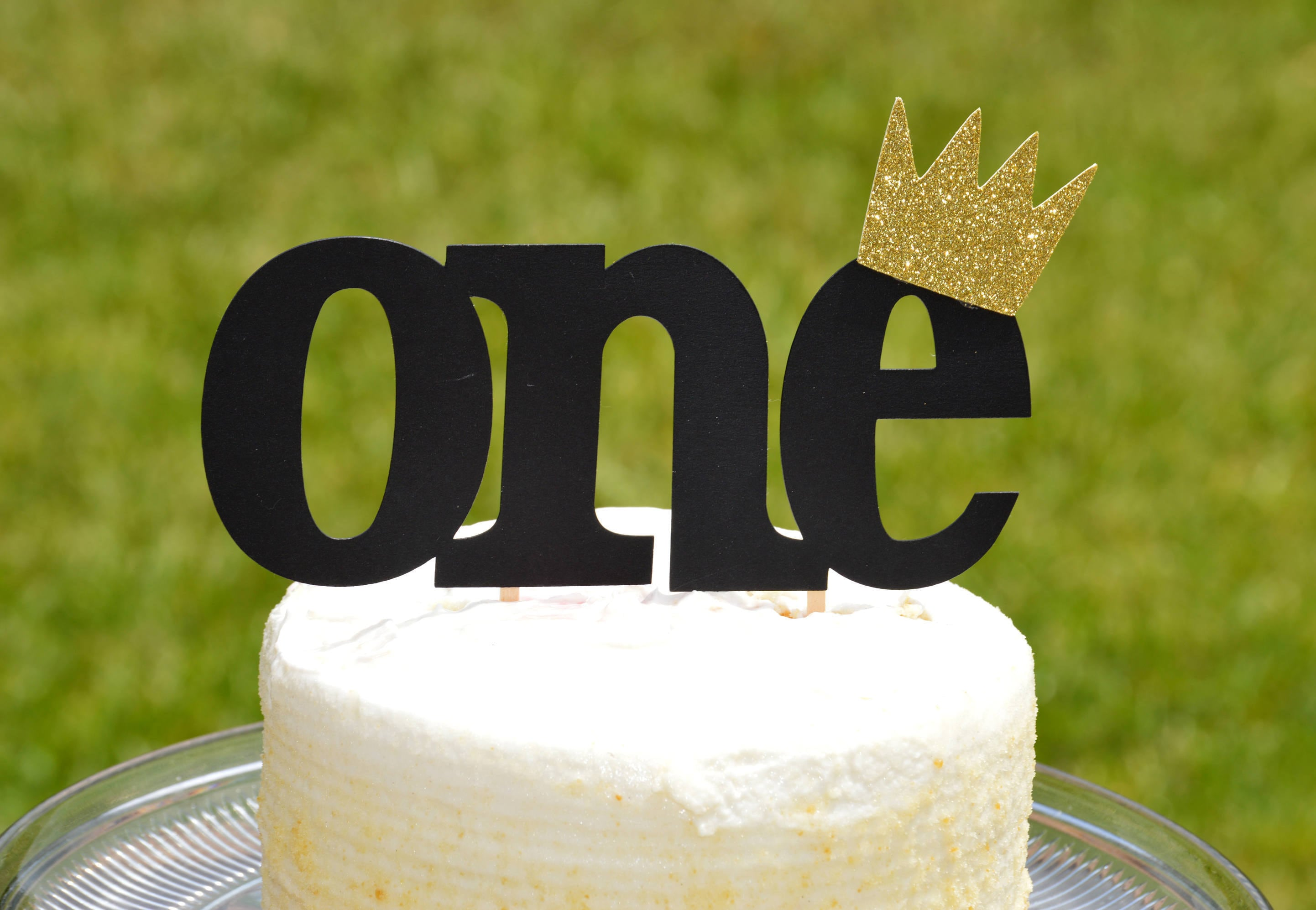 One Cake Topper Boyking Crown Cake Topperwhere The Wild Etsy