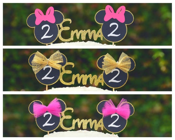 Brilliant Minnie Mouse Cake Topper Minnie Mouse Ears Minnie Mouse Cake Smash Funny Birthday Cards Online Kookostrdamsfinfo