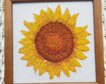 SUNFLOWER Punch Needle Embroidery Kit