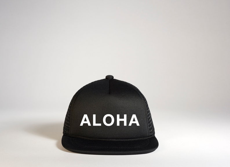 41ed843e4d6 ALOHA Snapback Hat Aloha Infant Trucker Hat Aloha Trucker