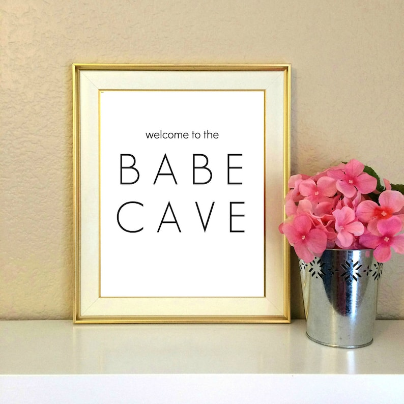 Welcome To The Babe Cave Dorm Decor Roommate College Gift Etsy