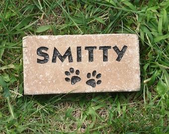 """Pet memorial paver 4 x 7"""" custom engraved"""
