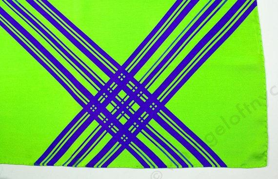 Silk Scarf | Vintage Silk Scarf | Bold graphic Des