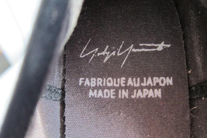 Vintage 90s Yohji Yamamoto Black Canvas Mary Janes Rubber Tread Japanese Vintage desiner Shoes