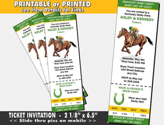 This is a photo of Fan Kentucky Derby Printables