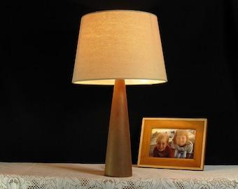 Handmade Table Lamp, Wooden Desk Lighting, Rustic Wood Decor, Bedside Lamp, Reading Light, Accent Lighting Gift Idea for Home or Office!