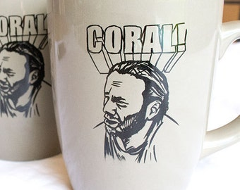 The Walking Dead Coral Mug | Rick Grimes Carl Joke Coffee Cup
