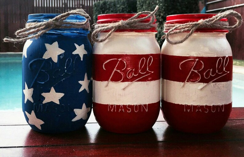 4th of July American Flag Decor 4th of July Decor Labor Day image 1