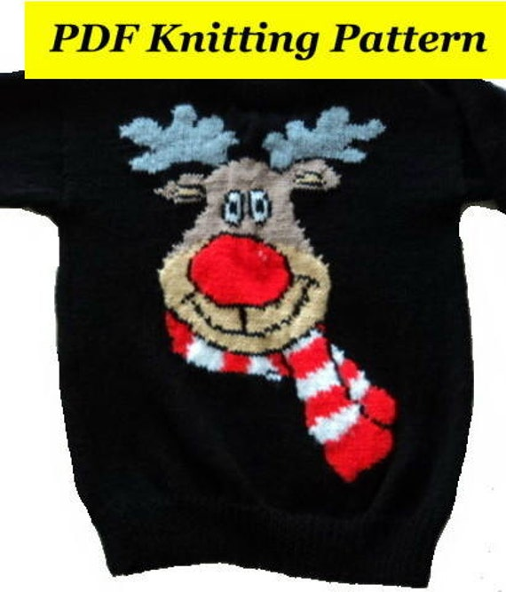 Childrens Adults Christmas Rudolph Reindeer Jumper Sweater Etsy