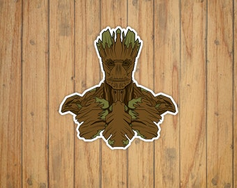 Groot (Guardians of the Galaxy) Vector Illustration Portrait Decal/Sticker