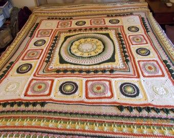 Handmade Crocheted Blanket, queen size