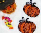 """Gestickter Aufnäher """"Halloween Kürbis"""" - Patch"""