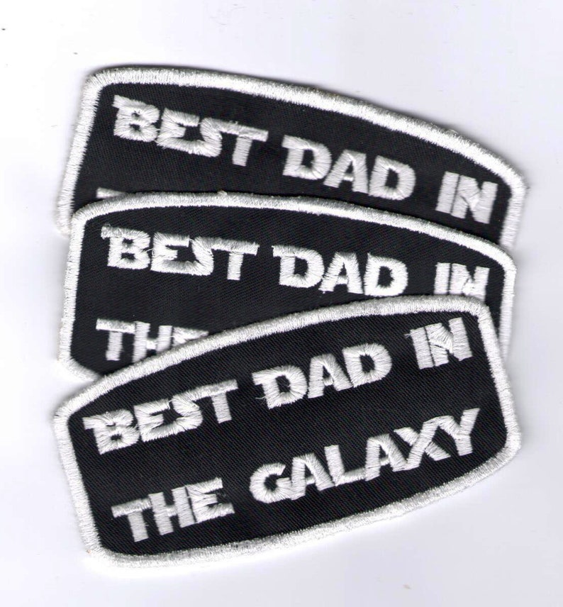 Gestickter patch Best Dad in the Galaxy gift for image 0