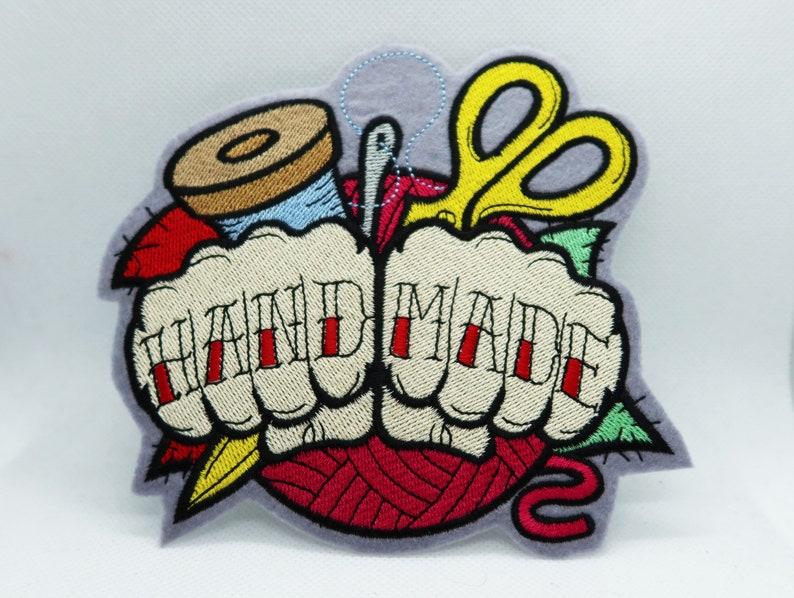 Gesticktes Bügelbild Handmade im Rockabilly Tattoo image 0