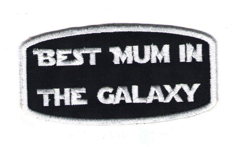 Gestickter Patch Best Mum in the Galaxy gift for image 0