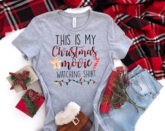 This Is My Christmas Movie Watching Tshirt Long Sleeve Sweatshirt