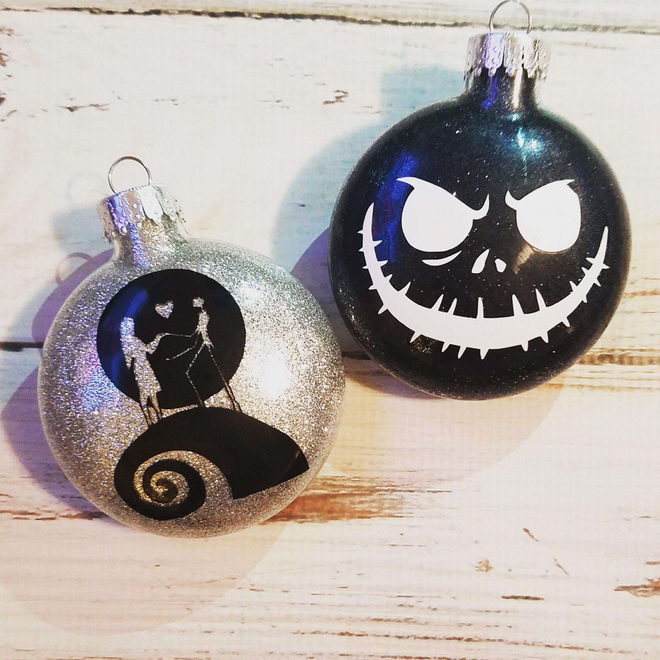 Nightmare Before Christmas Jack Skellington Sally Christmas | Etsy