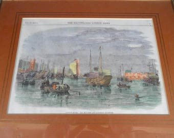 Framed London Times Illustration Jan. 10, 1857