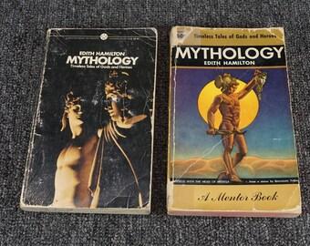"Vintage Set Of Two Printings, Edith Hamilton ""Mythology"", C. 1956 & 1969"