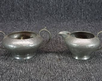 G. L. & Co.'S My Lady Pewter Creamer And Open Sugar Made In England