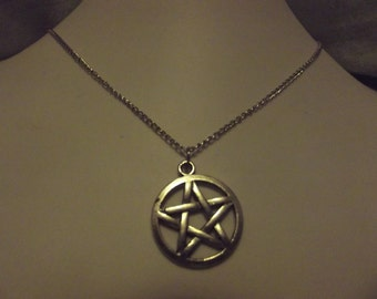 Antique Silver Pentagram Necklace