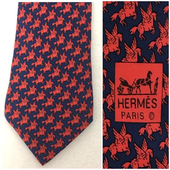 Vintage Hermes Pegasus Tie
