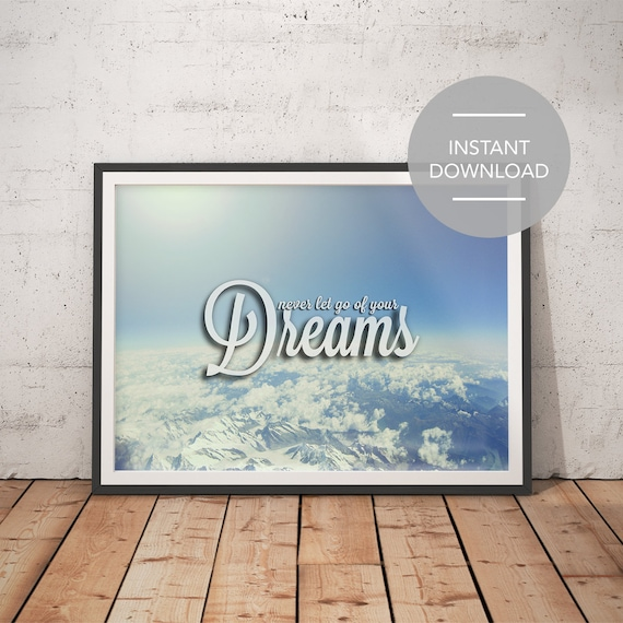 clouds instant download yoga art print printable quotes etsy