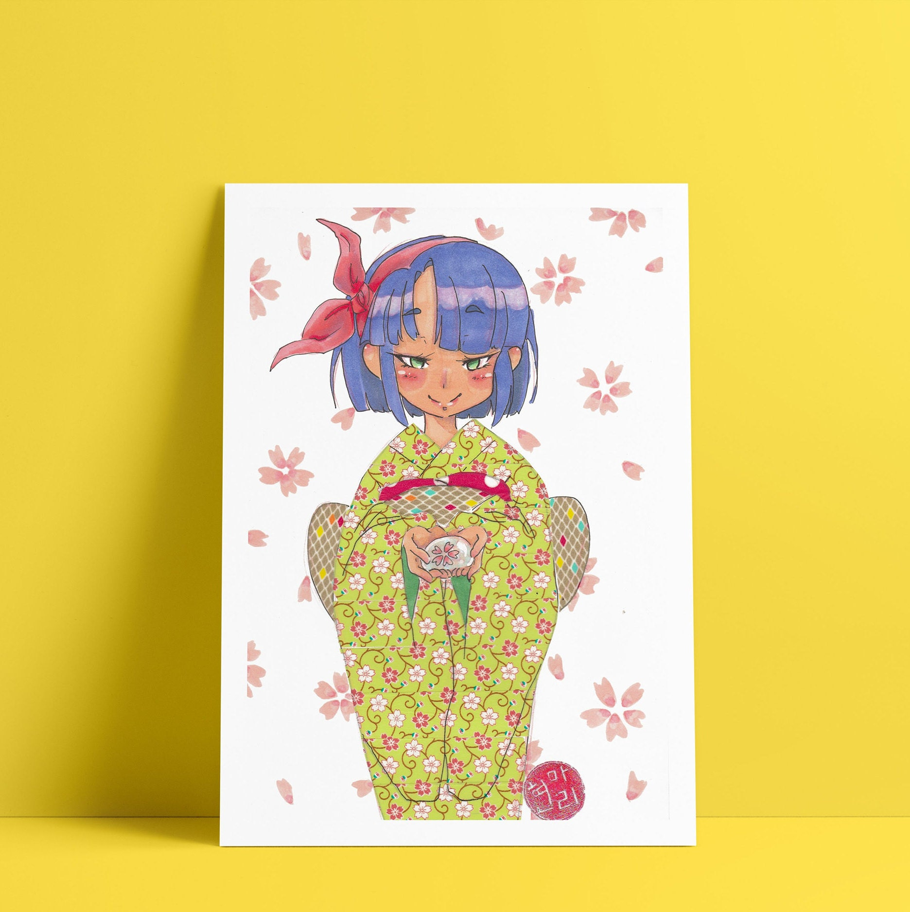 Kimono Cherry Blossom Purple / anime art / anime art style ...