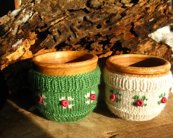 Cover for cups, knitted cover for Cup