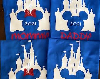 Disney Castle shirts | Disney 2021 Shirt / Disney Personalized Shirts 2021 / Disney Family Shirts / Custom Disney Shirts/ Matching Shirts
