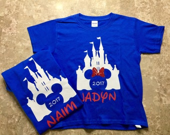 Disney Castle shirts | Disney Shirts | Matching Disney Family Shirts | Castle Shirts| Disney Shirt for Family