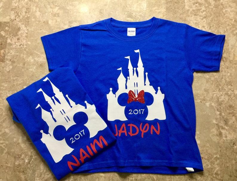 Disney Castle Shirts Disney 2019 Shirt Disney Personalized Shirts 2019 Disney Family Shirts Custom Disney Shirts Disney Castle 2019